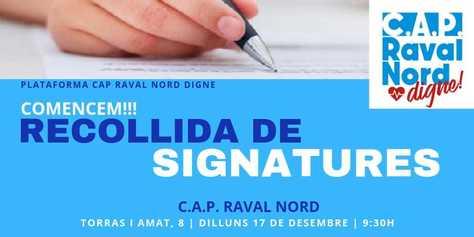 Inici recollida de signatures #CAPalaMisericòrdiaJA!