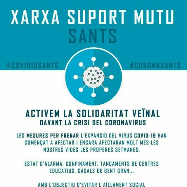 Grup de suport d'Av. Madrid - Plaça del centre