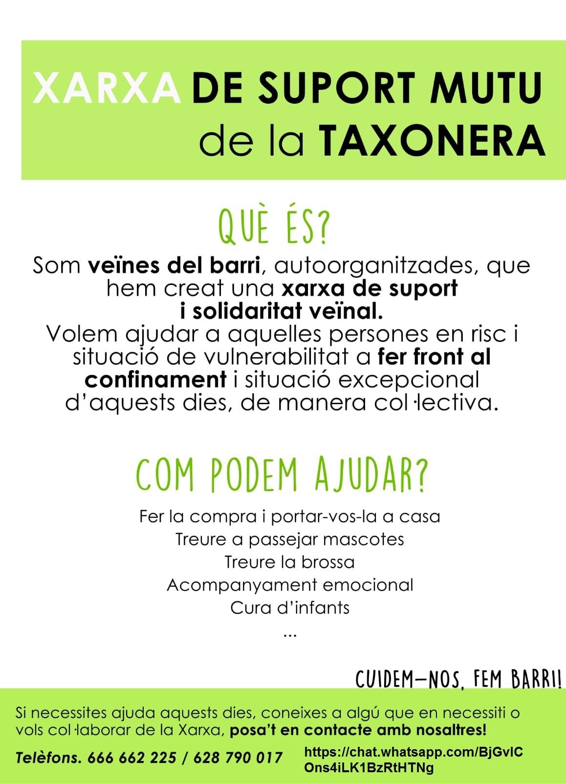 Xarxa de suport mutu de La Taxonera