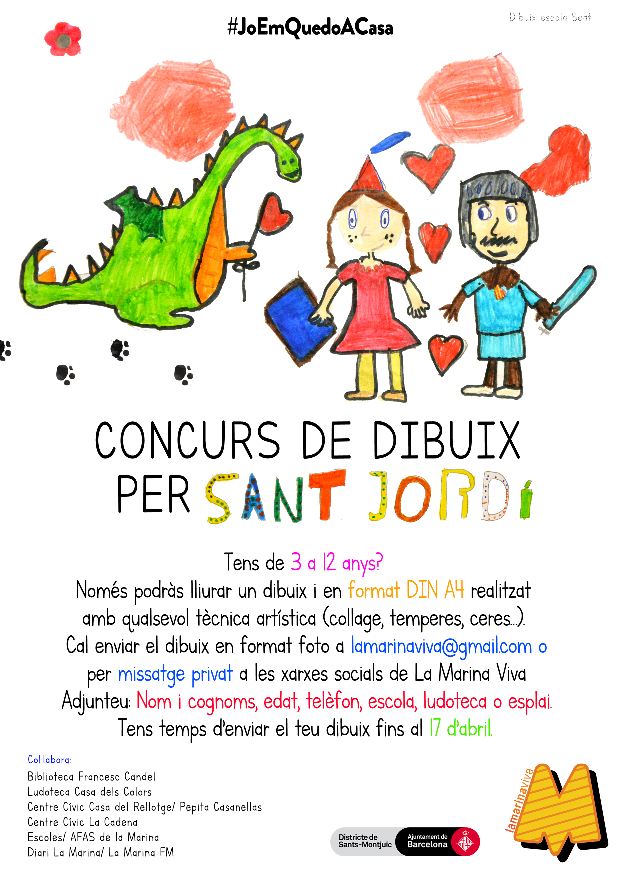 5è Concurs de dibuix per Sant Jordi