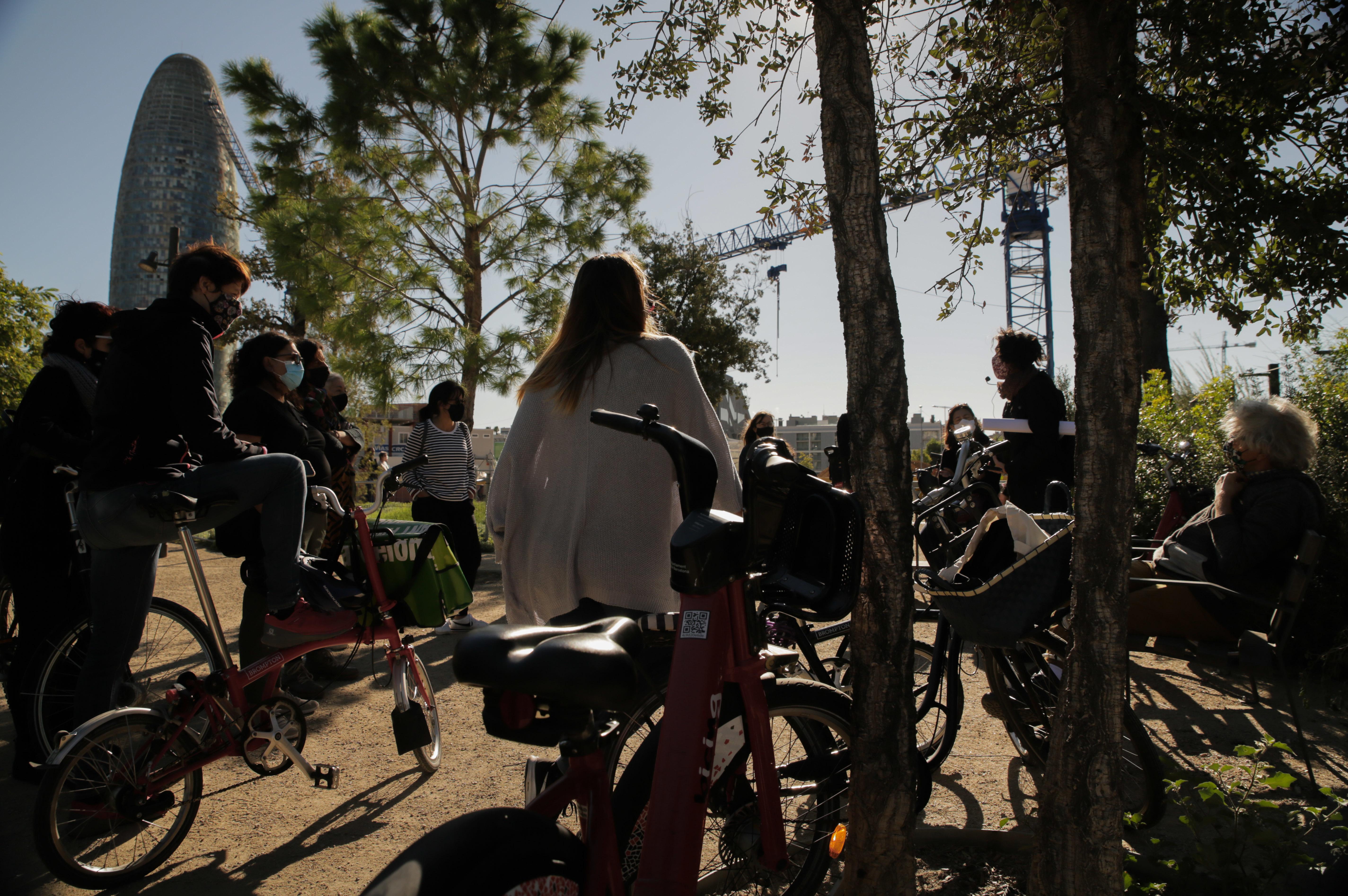 Bicicletada pels nous espais verds del Poblenou